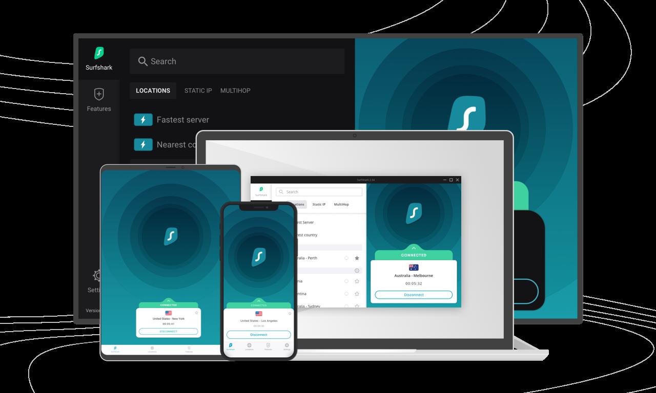Surfshark VPN devices